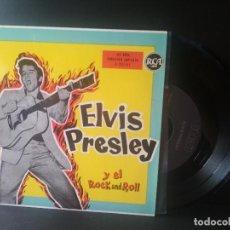 Discos de vinilo: ELVIS PRESLEY ELVIS PRESLEY Y EL ROCK & ROLL EP SPAIN 1987 PEPETO TOP. Lote 214757495