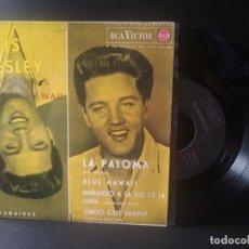 Discos de vinilo: ELVIS PRESLEY LA PALOMA + 3 EP SPAIN1987 PEPETO TOP. Lote 214757973