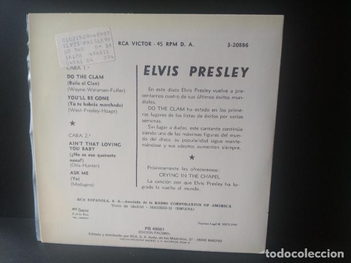 Discos de vinilo: ELVIS PRESLEY DO THE CLAM + 3 EP SPAIN 1987 PEPETO TOP - Foto 2 - 214759201
