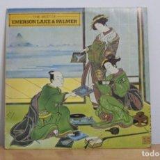 Discos de vinilo: EMERSON, LAKE & PALMER- THE BEST OF EMERSON LAKE & PALMER - 1981 - ESPAÑA - VG/VG+. Lote 214767620