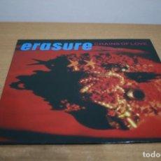Discos de vinilo: ERASURE - CHAINS OF LOVE THE FOGHORN MIX - 1988 - ESPAÑA - VG++/VG+. Lote 214770495