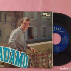 """Discos de vinilo: 7"""" ADAMO – EN BANDOLERA - LA VOZ DE SU AMO – EPL 14.319 - EP - SPAIN PRESS (VG++/VG++). Lote 214806502"""