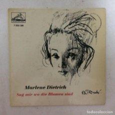 Discos de vinilo: MARLENE DIETRICH – SAG MIR WO DIE BLUMEN SIND SCANDINAVIA 1963 HIS MASTER'S VOICE. Lote 214662817