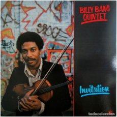 Discos de vinilo: BILLY BANG QUINTET - INVITATION - LP ITALIA 1982 - SOUL NOTE SN 1036. Lote 214839431