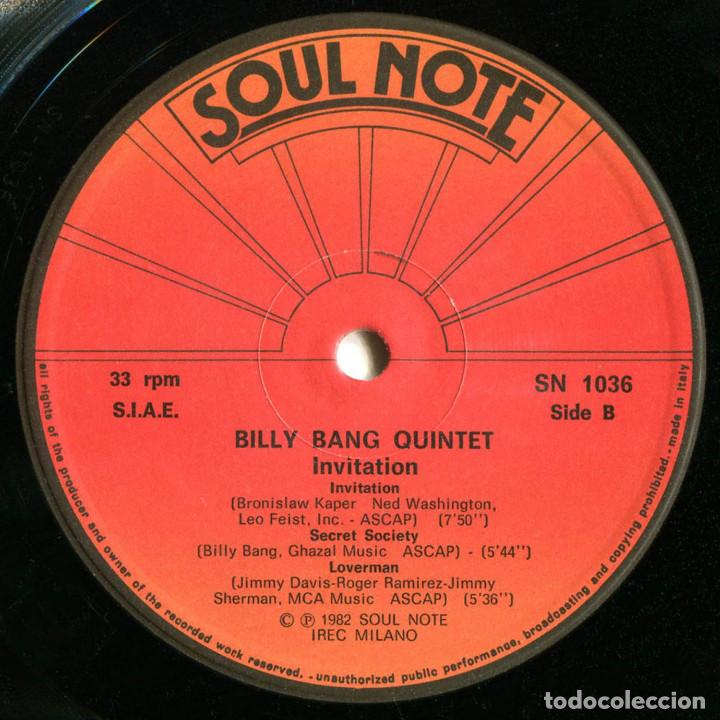 Discos de vinilo: Billy Bang Quintet - Invitation - Lp Italia 1982 - Soul Note SN 1036 - Foto 4 - 214839431