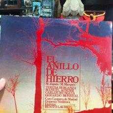 Discos de vinilo: LP EL ANILLO DE HIERRO. Lote 214840462