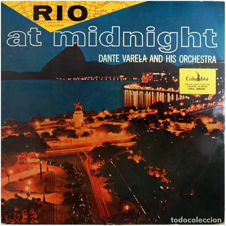 DANTE VARELA Y SU ORQUESTA - RIO AT MIDNIGHT (RIO A MEDIANOCHE) - LP SPAIN - COLUMBIA CCL 35041 (Música - Discos - LP Vinilo - Orquestas)