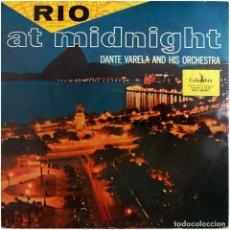 Discos de vinilo: DANTE VARELA Y SU ORQUESTA - RIO AT MIDNIGHT (RIO A MEDIANOCHE) - LP SPAIN - COLUMBIA CCL 35041. Lote 214843336