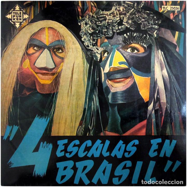 VVAA - 4 ESCALAS EN BRASIL (RECIFE, RIO, BAHIA, SAO PAULO) - LP SPAIN - TELEFUNKEN TLC 25026 (Música - Discos - LP Vinilo - Grupos y Solistas de latinoamérica)