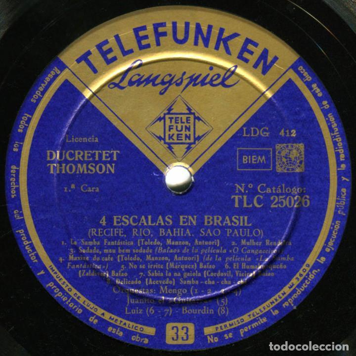 Discos de vinilo: VVAA - 4 Escalas En Brasil (Recife, Rio, Bahia, Sao Paulo) - Lp Spain - Telefunken TLC 25026 - Foto 3 - 214844947