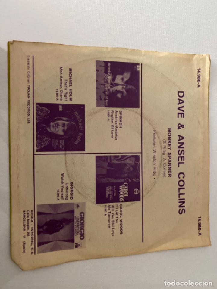 Discos de vinilo: ANTIGUO EP DAVE & ANSIL COLLINS MONKEY SPANNER - Foto 2 - 214900785
