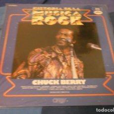 Discos de vinilo: EXPRO LP HISTORIA DE LA MUSICA ROCK NUM 20 CHUCK BERRY BUEN ESTADO. Lote 214910290