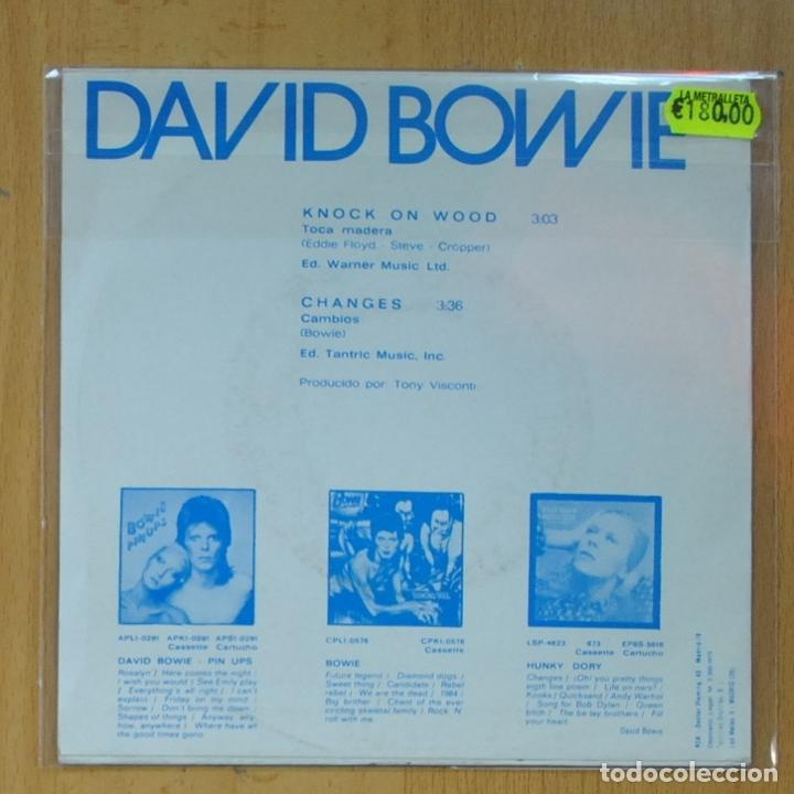 Discos de vinilo: DAVID BOWIE - KNOCK ON WOOD / CHANGES - PROMO - SINGLE - Foto 2 - 214923267