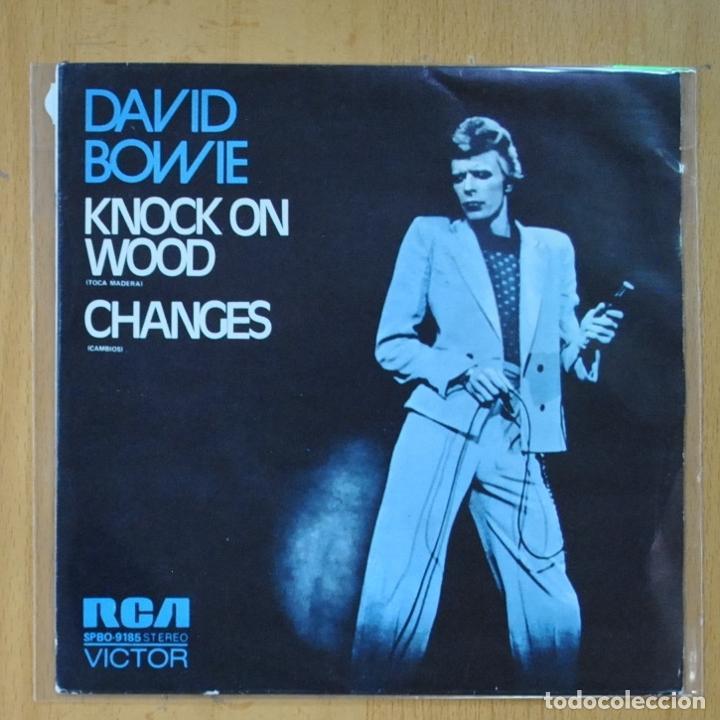 DAVID BOWIE - KNOCK ON WOOD / CHANGES - PROMO - SINGLE (Música - Discos - Singles Vinilo - Pop - Rock - Extranjero de los 70)