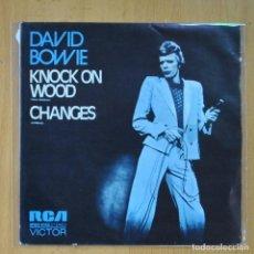 Discos de vinilo: DAVID BOWIE - KNOCK ON WOOD / CHANGES - PROMO - SINGLE. Lote 214923267