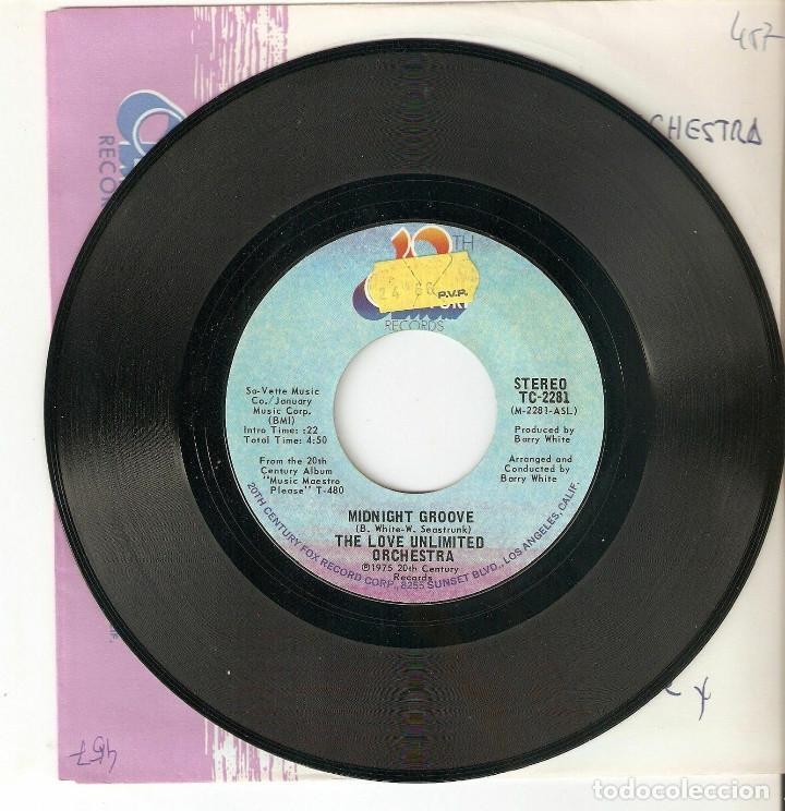 """THE LOVE UNLIMITED ORCHESTRA 7"""" USA IMPORTACION 45 MIDNIGHT GROOVE ´75 SINGLE VINILO FUNK SOUL DISCO (Música - Discos - Singles Vinilo - Funk, Soul y Black Music)"""