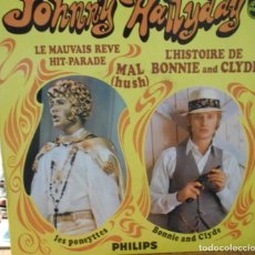 Discos de vinilo: JOHNNY HALLYDAY THE BALLAD OF BONNIE AND CLYDE +3 EP IMPORT FRANCE 1969. Lote 214940431