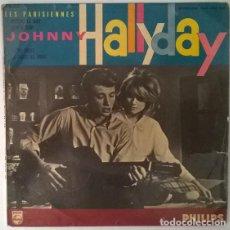 Disques de vinyle: JOHNNY HALLYDAY. LES PARISIENNES BSO. RETIENS LA NUIT/ SAM' DI SOIR/ YA YA TWIST/ LA FAUTE AU TWIST. Lote 214950881