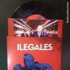Discos de vinilo: ILEGALES SINGLE VINILO TE PREFIERO LEJOS +JUVENTUD , EGOCENTRICA CON ENCARTE 2020 NUEVO¡¡ PEPETO. Lote 214952176