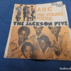 Discos de vinilo: EXPRO SINGLE JACKSON FIVE CON MICHAEL ABC THE YOUNG FOLKS PORTADA CON TROTE DISCO OK. Lote 214962835