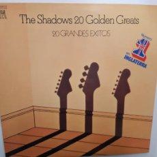 Disques de vinyle: THE SHADOWS- 20 GRANDES EXITOS - SPAIN 2 LP 1977 - CLIFF RICHARD - VINILOS COMO NUEVO. REF. 1. Lote 214968887