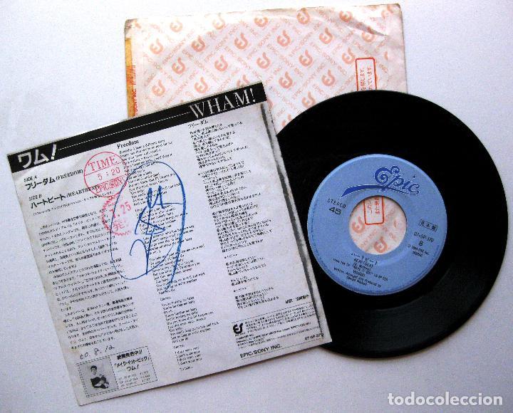 Discos de vinilo: Wham! - Freedom / Heartbeat - Single EPIC 1985 PROMO Japan (Edicion Japonesa) BPY - Foto 2 - 214984420