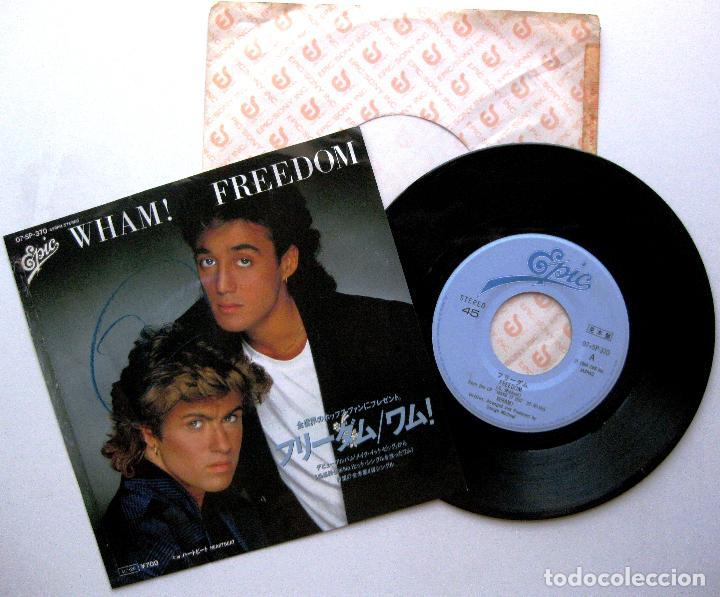 WHAM! - FREEDOM / HEARTBEAT - SINGLE EPIC 1985 PROMO JAPAN (EDICION JAPONESA) BPY (Música - Discos de Vinilo - Singles - Pop - Rock Internacional de los 80)