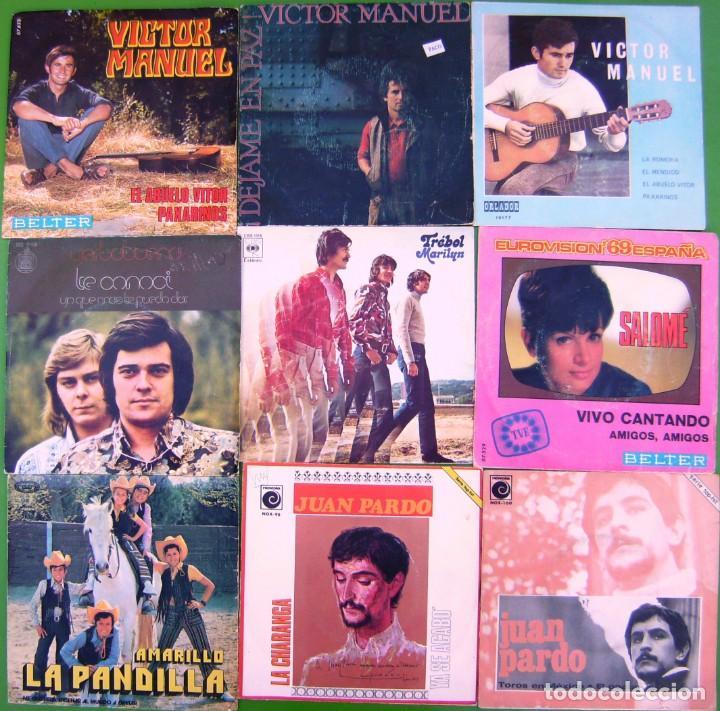 LOTE 9 SINGLES (VICTOR MANUEL, TERBABUENA, JUAN PARDO, TREBOL, LA PANDILLA, SALOME) (Música - Discos - Singles Vinilo - Solistas Españoles de los 50 y 60)