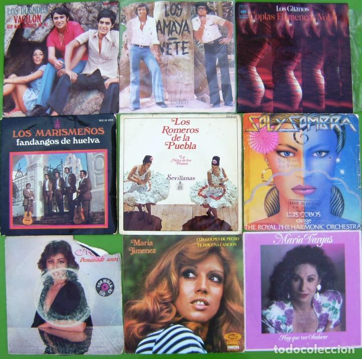 LOTE 9 SINGLES FLAMENCOS (LOS DUENDES, AMAYA, MARISMEÑOS, MARIA JIMENEZ, MARIA VARGAS, MANUELA (Música - Discos - Singles Vinilo - Flamenco, Canción española y Cuplé)