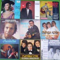 Discos de vinilo: LOTE 9 SINGLES FLAMENCOS (PERET, RUMBA 3, SANGRE ANDALUZA, PAQUITO JEREZ, PEDRO MIGUEL,PACO GUERRERO. Lote 215008930
