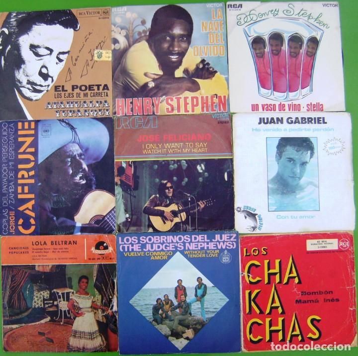 LOTE 9 SINGLES (ATAHUALPA YUPANQUI, JUAN GABRIEL,LOLA BELTRAN,JORGE CAFRUNE, HENRY STEPHEN,FELICIANO (Música - Discos - Singles Vinilo - Grupos y Solistas de latinoamérica)