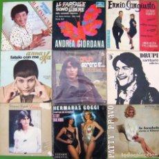 Discos de vinilo: LOTE 9 SINGLES(DRUPI, ANNA OXA, PATTY PRAVO, GIANNI TOGNI, HERMANAS GOGGI, A.GIORDANA.... Lote 215010668