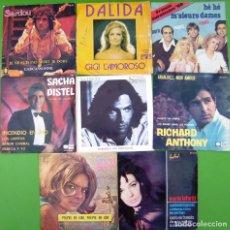 Discos de vinilo: LOTE 8 SINGLES (FRANCE GALL, MARIE LAFORET, RICHARD ANTHONY, MICHEL SARDOU, SACHA DISTEL, HOHENLOHE. Lote 215011261
