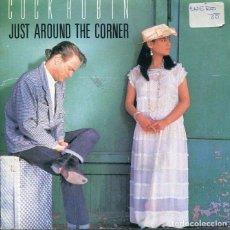 Discos de vinil: COCK ROBIN / JUST AROUND THE CORNER (SINGLE PROMO SOLO CARA A 1987). Lote 215016515