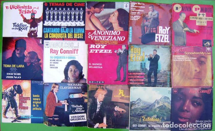LOTE DE 15 SINGLES INSTRUMENTALES - VER (Música - Discos - Singles Vinilo - Clásica, Ópera, Zarzuela y Marchas)