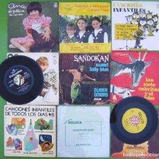 Discos de vinilo: LOTE 10 SINGLES INFANTILES (CUENTOS Y CANCIONES) - VDER. Lote 215021463