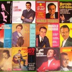 Discos de vinilo: LOTE 12 EP Y SINGLES (MANOLO ESCOBAR, RAFAEL FARINA, EL LOREÑO,NIÑO DE AGUADULCE,MORENITO DE CORDOBA. Lote 215025543