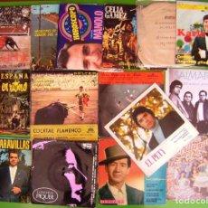 Discos de vinilo: LOTE 15 EP Y SINGLES FLAMENCOS (EL PETY, SALMARINA, KARLO, PASODOBLES,VALDERRAMA.... Lote 215026206