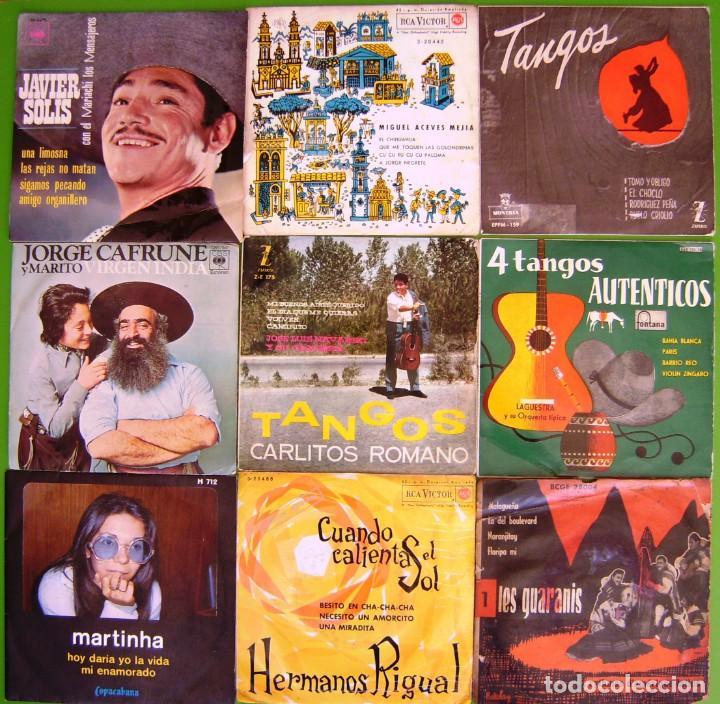 LOTE 9 SINGLES (JAVIER SOLIS, MARTINHA, LOS GUARANIS, MIGUEL ACEVES MEJIA, JORGE CAFRUNE Y MARITO... (Música - Discos - Singles Vinilo - Grupos y Solistas de latinoamérica)