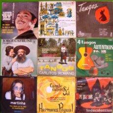 Discos de vinilo: LOTE 9 SINGLES (JAVIER SOLIS, MARTINHA, LOS GUARANIS, MIGUEL ACEVES MEJIA, JORGE CAFRUNE Y MARITO.... Lote 215026661