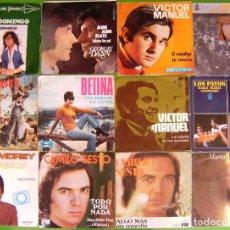 Discos de vinilo: LOTE 12 SINGLES (CAMILO SESTO, BETINA, LOS JUNIORS, KARINA, JAIME MOREY, VICTOR MANUEL,MARIA VERANES. Lote 215028518