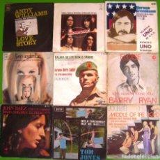 Discos de vinilo: LOTE 9 SINGLES (LYNN ANDERSON, JOAN BAEZ, NORMAN GREENBAUM, REDBONE, MIDDLE OF THE ROAD, TOM JONES. Lote 215029377