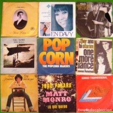 Discos de vinilo: LOTE 9 SINGLES (TREVOR HERION, TONY BANK, EN DAVY, LUISA HERNANDEZ, NILSSON, MAT MONRO, ESTHER & ABI. Lote 215029735