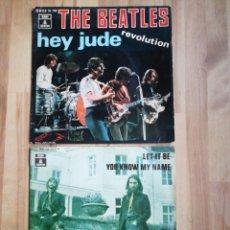 Discos de vinilo: 2 SINGLES THE BEATLES, LET IT BE / HEY JUDE. Lote 215033438