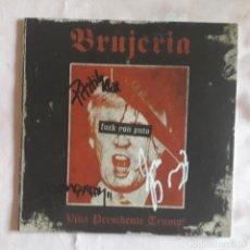Disques de vinyle: EP BRUJERIA: VIVA PRESIDENTE TRUMP! (VINILO ROSA Y FIRMADO) 2016. Lote 215033811