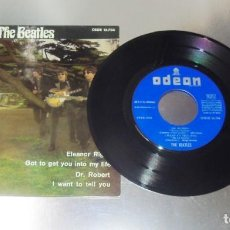 Discos de vinilo: THE BEATLES -- ELEANOR RIGBY & DR. ROBERT & I WANT TO TELL YOU +1 --NEAR MINT (NM OR M ). Lote 215034253