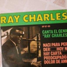 Discos de vinilo: RAY CHARLES. NACI PARA PERDER. EP.. Lote 215046043