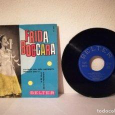Discos de vinilo: ANTIGUO SINGLE - FRIDA BOCCARA - SOLISTA MUJER - EP LA CASA DEL SOL NACIENTE. Lote 215048447