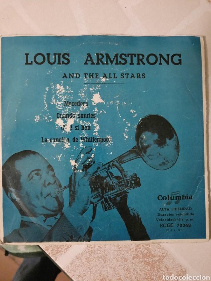 LOUIS ARMSTRONG. MECEDORA. EP. (Música - Discos de Vinilo - EPs - Jazz, Jazz-Rock, Blues y R&B)