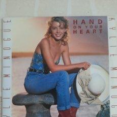 Discos de vinilo: KYLIE MINOGUE. HAND ON TOUR HEART. SINGLE.. Lote 215052643